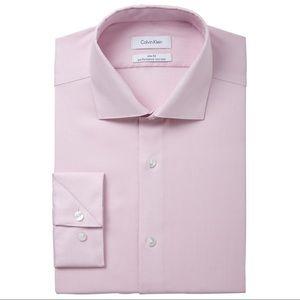 Calvin Klein Performance Slim Fit Pink Dress Shirt
